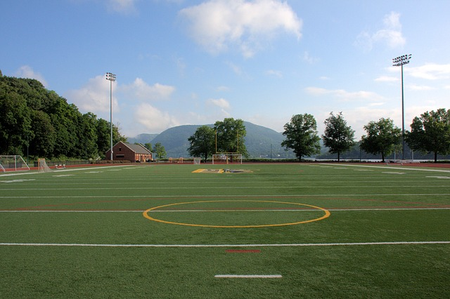 Athletic fields are easy to sod because they have such a standard flat landscape.